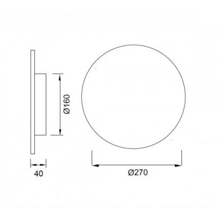 C0117 ROUND LED 6W/3000K Epistar WALL Matt WHITE