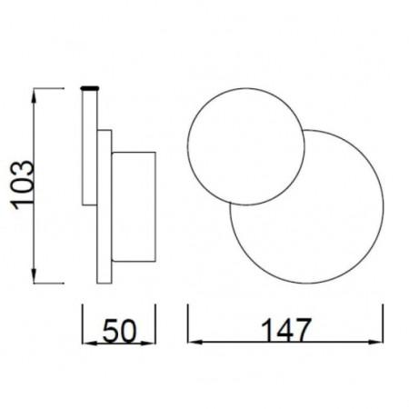 C0142 LED 103*147mm Alu/Matt White 5W/3000K