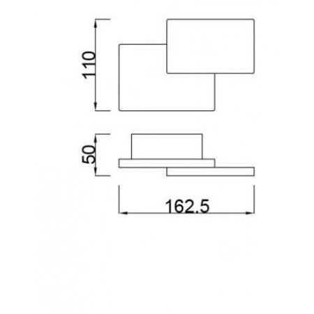 аплик C0143 LED 110*162.5mm Alu/Matt White 5W/3000K