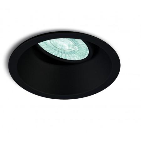C0164 BLACK ROUND SPOT 1XGU10 max. 50W (No Inc.)