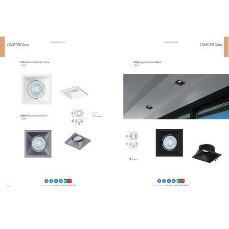 C0162 92*92*40mm 80*80 GU10 50W incl. White