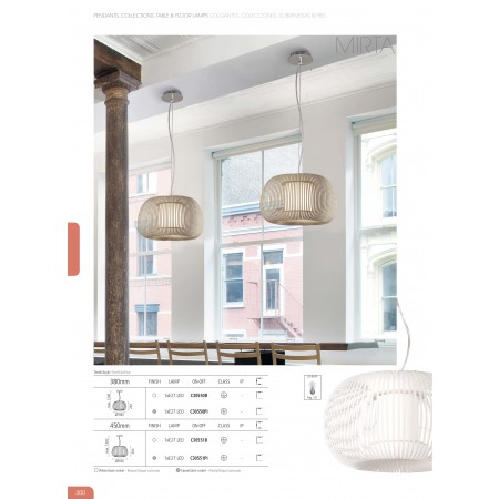 C30551B (3055/45 E27 1x20W Bianco Pendant)