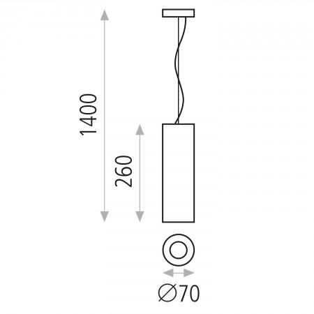 C32351B (3235/7 White 8W/3200K IP20 Pendant)