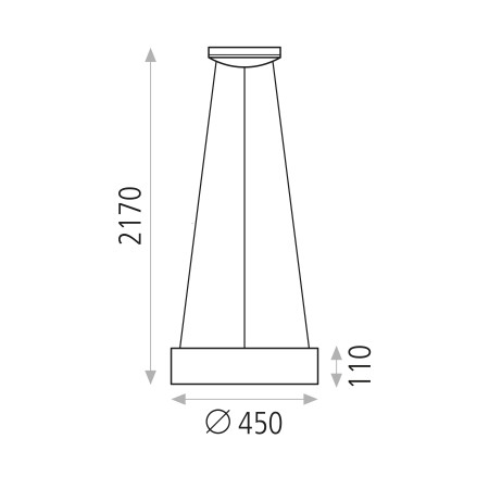 C345010B (3450/45 27W/3200K White Pendant)