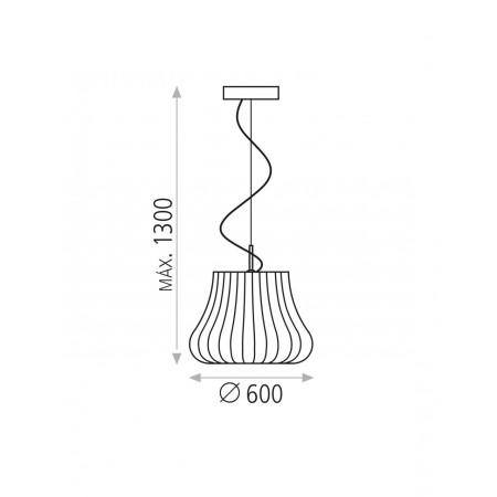 C34561BG (3456/60 E27 1x20W Beige-Nickel Pendant)