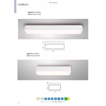 5503 RECTANGULAR CEILING 120x30 WHITE LED85W/4200K