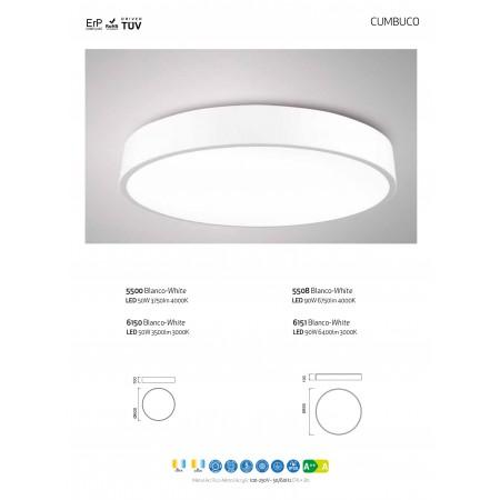 5508 ROUND CEILING LAMP 80cm WHITE 90W/4200K