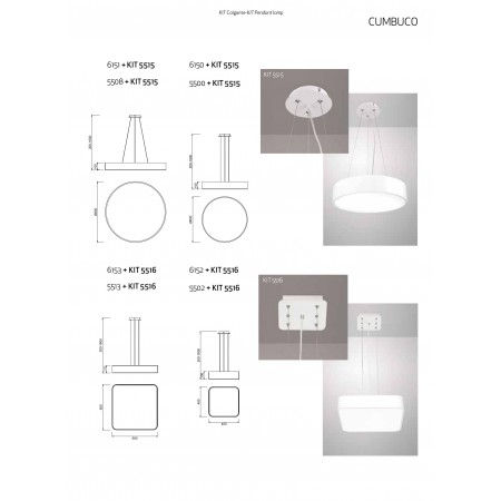 плафон 5500 ROUND CEILING LAMP 60cm WHITE LED 50W/4200K