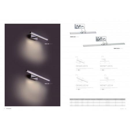аплик, спот лампа ^5133 MONET LED chrom S