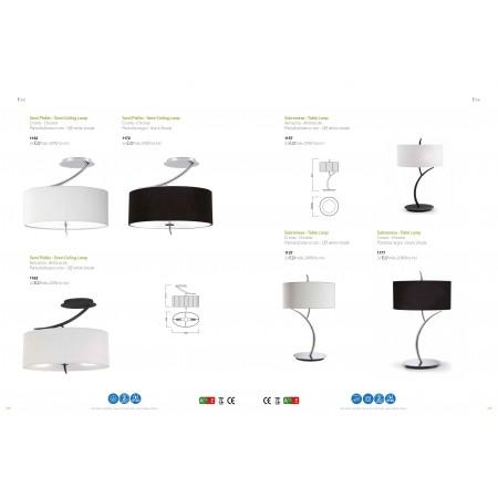 настолна лампа 1137 chrome / cream shade 2xE27 20W (not incl.)