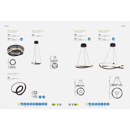 настолна лампа 5393 TL BROWN OXIDE LED 12W/2800K