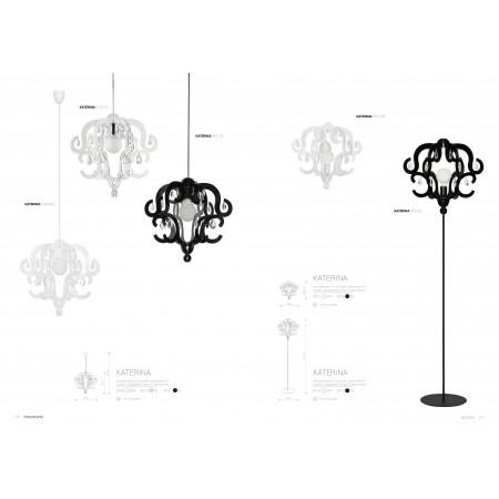 лампион / правостояща лампа ^5212 KATERINA black I podlogowa