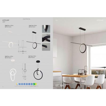 полилей 7191 LED 48W/3000K PENDANT LAMP WHITE