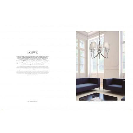 лампион / правостояща лампа 4738 Floor 3L Antique Brass/White Shade 3x13W E27