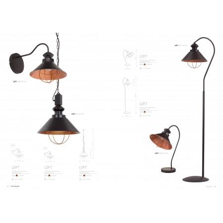 лампион / правостояща лампа ^5061 LOFT chocolate I podlogowa