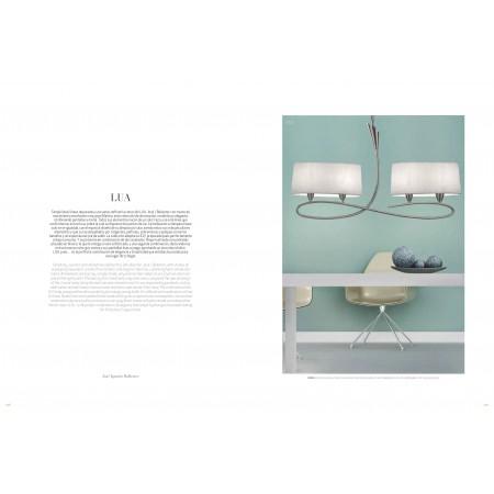 3709 SATIN+WHITE SHADE 2x20W E27 (No inc.)