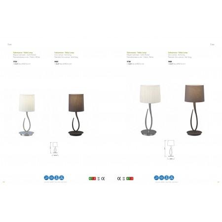 настолна лампа 3708 SATIN+WHITE SHADE 1x20W E27 (No inc.)