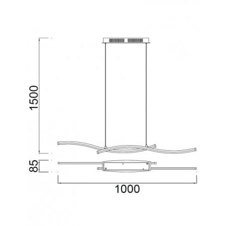 полилей ^5100 LED 24W/3000K Satin-Nickel/Chrom Pend Line