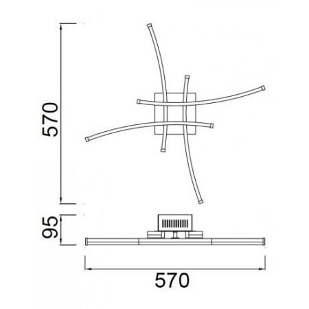 ^5101 LED 26W/3000K Satin-Nickel/Chrom Celing