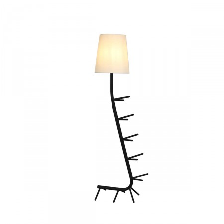 лампион / правостояща лампа 7255 Pie De Sal?n Negro 1xE27 (Not Incl.)