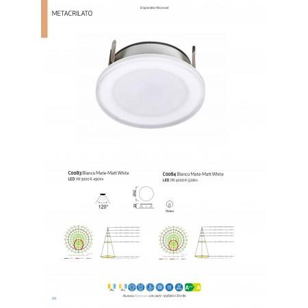 C0083 LED SMD Alu 92*38mm 7W/3000K White IP54