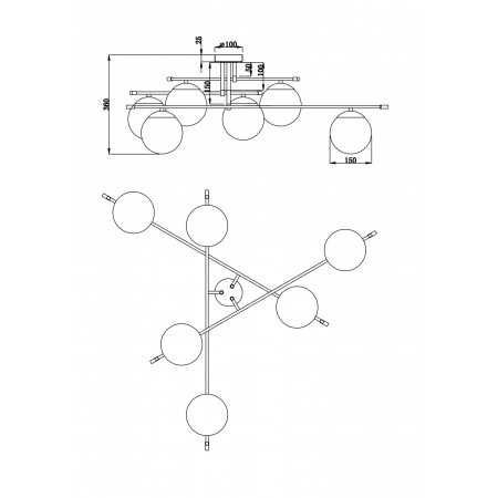 плафон MOD048CL-06G