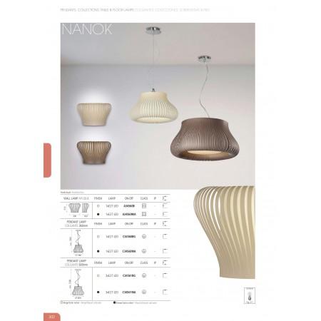 A34560MA (16/3456 Wall Lamp E27 1x20W Brown-Nickel