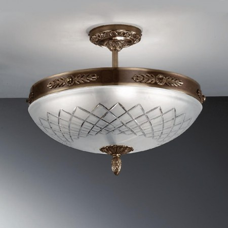 710/6PL-05 Satin Bronze  ceiling lamp cut glass