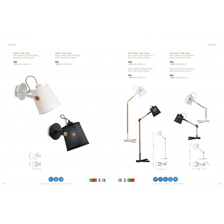 4920 Floor Lamp WHITE/SHADE 1x23W E27 (No inc.)