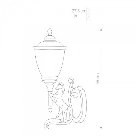 аплик, външна лампа 4902 HORSE right