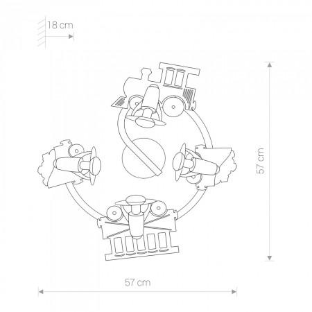 плафон, аплик 4065 TRAIN IV spirala