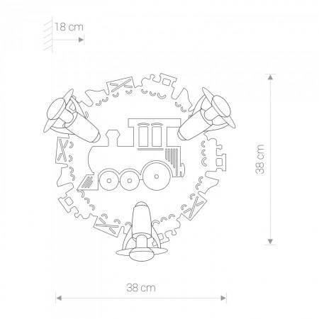 плафон, аплик 4064 TRAIN III plafon