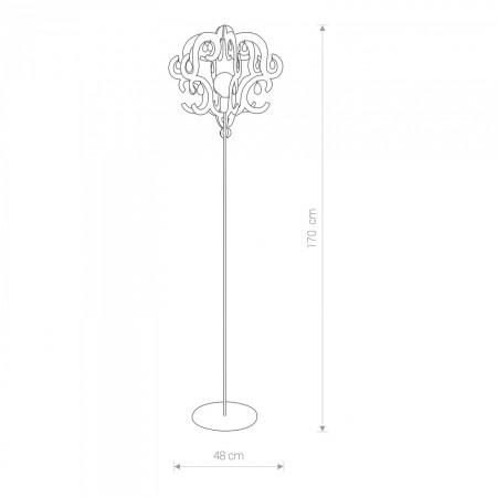 лампион / правостояща лампа ^5214 KATERINA white I podlogowa