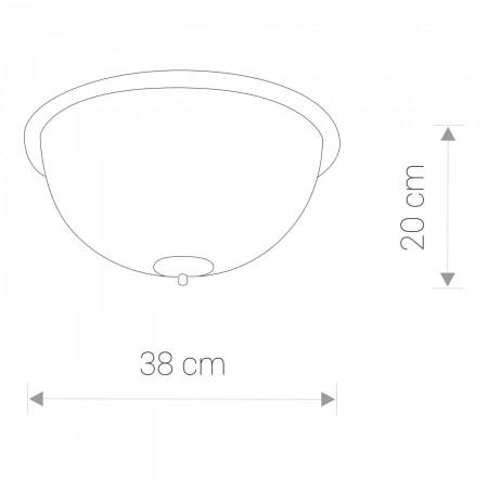 плафон ^5993 BARON WHITE II plafon