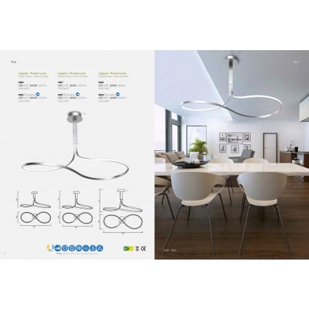 4987 LED 40W/3000K Silver/Chrom