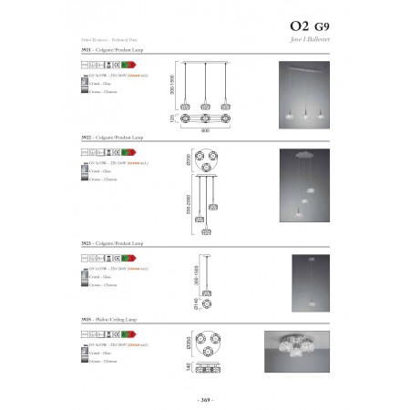 @3923 CHROME 1x2.5W LED G9 (Inc)