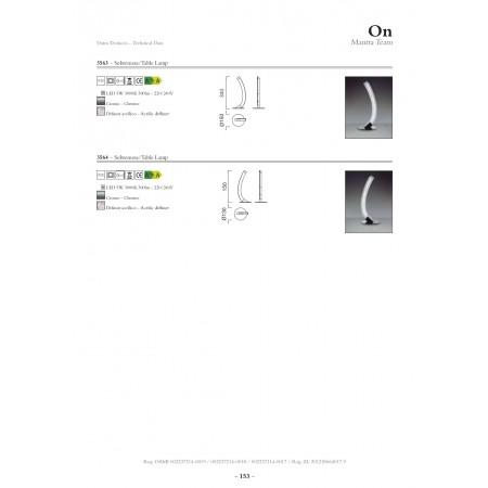 настолна лампа @3563 CHROME 1x5W LED - 500 LMS