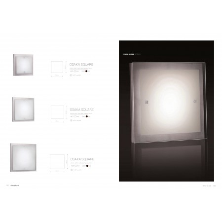 плафон ^4978 OSAKA SQUARE WHITE L