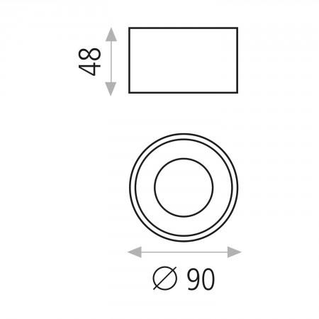 P32350N (3235/9 Black 8W/3200K IP20)
