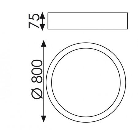 P345380B (3453/80 88W/3200K White Ceiling)