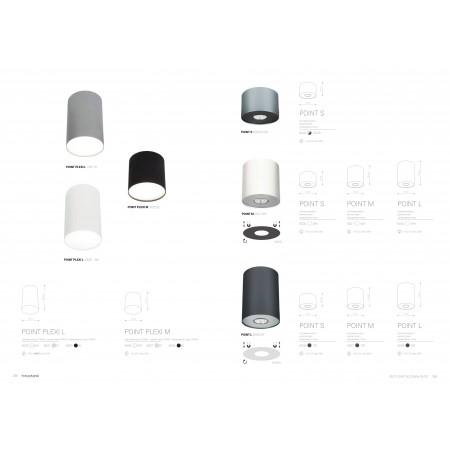 плафон, спот лампа 6001 POINT WHITE SILVER / WHITE GRAPHITE M