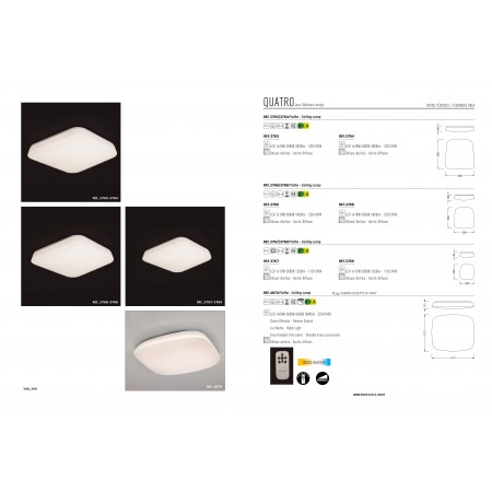 плафон ^4870 LED Square 60sm 60W/2700K-6500K Dimmable