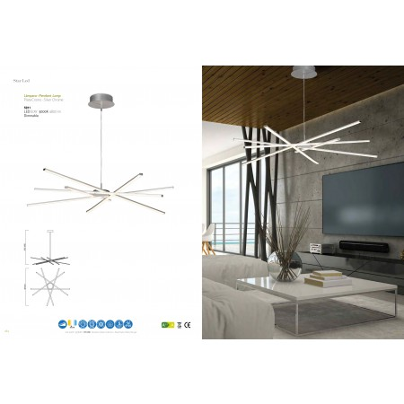 5911 Pend LED 60W/3000K Dimmable STAR Chrom/Silver