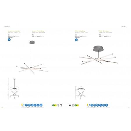 5915 Pend LED 42W/3000K (STAR) Chrom/Silver