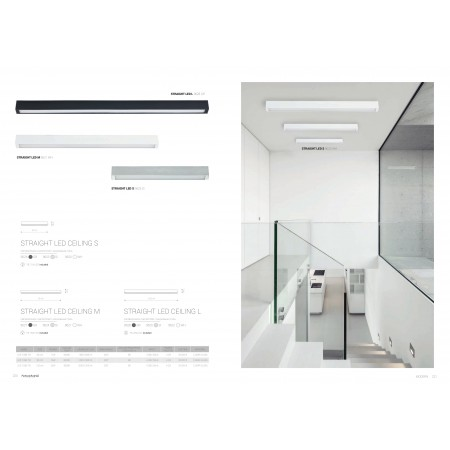 9627 STRAIGHT LED graphite ceiling M