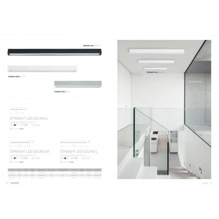 9621 STRAIGHT LED white ceiling M