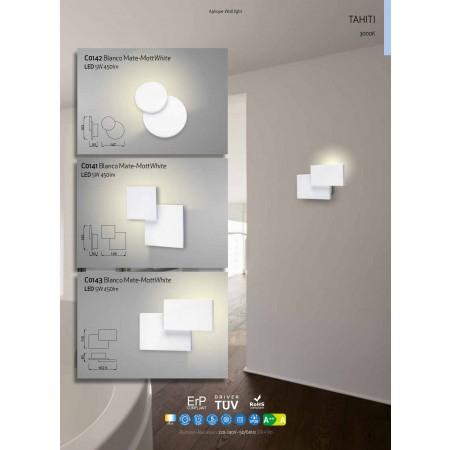 аплик C0141 LED 145*145mm Alu/Matt White 5W/3000K