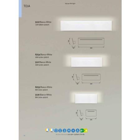 аплик 5122 LED 500*118*60mm Alu/Matt White 12W/4000K