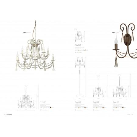 лампион / правостояща лампа 4982 TWIST white III podlogowa