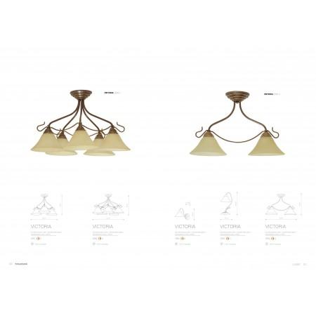 настолна лампа ^2995 VICTORIA gold I biurkowa